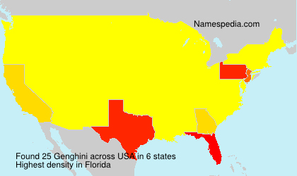 Surname Genghini in USA