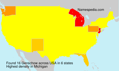 Surname Genschow in USA