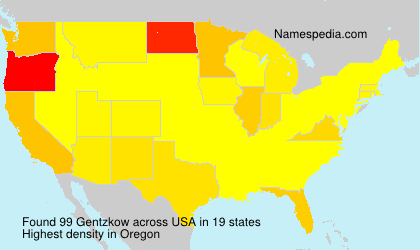 Surname Gentzkow in USA