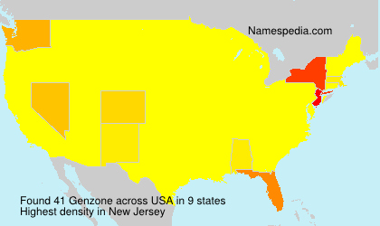 Surname Genzone in USA