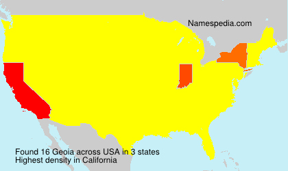 Surname Geoia in USA