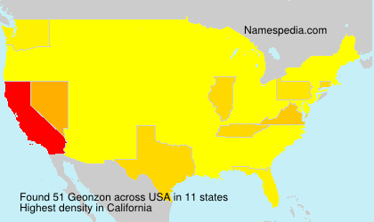 Surname Geonzon in USA