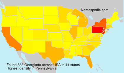 Surname Georgiana in USA