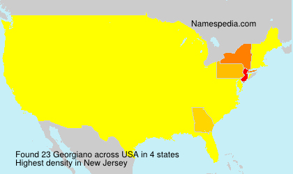 Surname Georgiano in USA