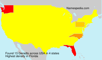 Surname Geradts in USA