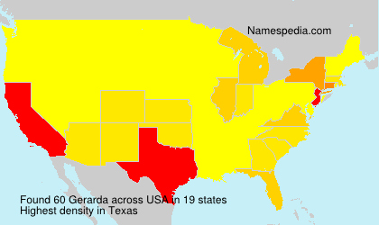 Surname Gerarda in USA