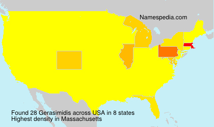 Surname Gerasimidis in USA