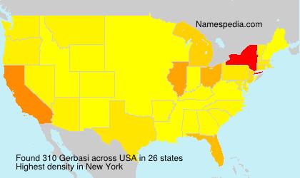 Surname Gerbasi in USA