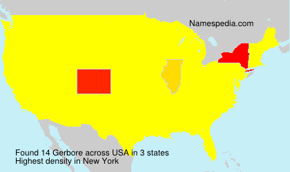 Surname Gerbore in USA