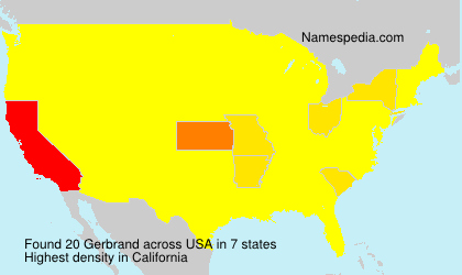Surname Gerbrand in USA