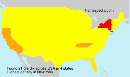 Familiennamen Gerdik - USA