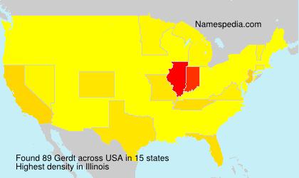 Surname Gerdt in USA
