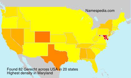 Surname Gerecht in USA