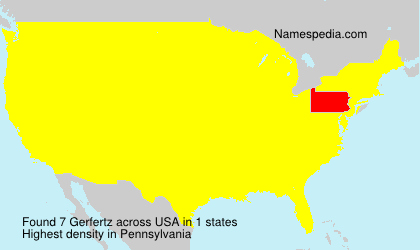 Surname Gerfertz in USA