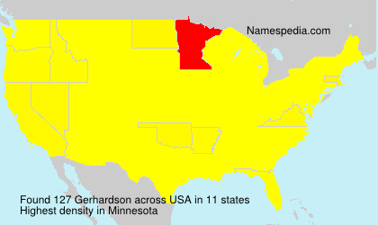 Familiennamen Gerhardson - USA