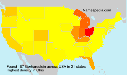 Surname Gerhardstein in USA