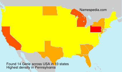 Familiennamen Gerie - USA