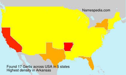 Surname Gerlis in USA