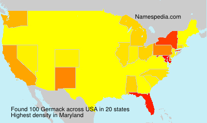 Familiennamen Germack - USA