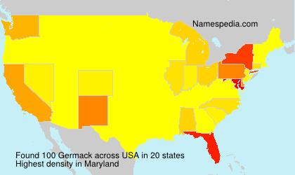 Familiennamen Germack - USA