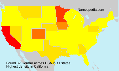 Surname Germar in USA