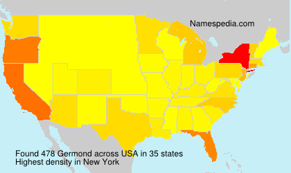Surname Germond in USA