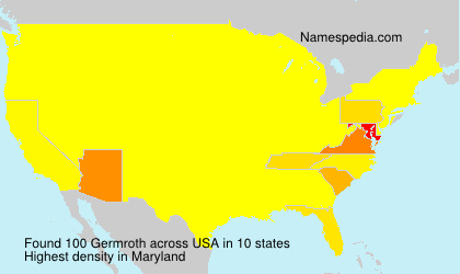 Surname Germroth in USA