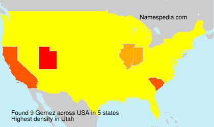 Surname Gernez in USA