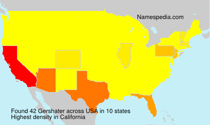 Surname Gershater in USA