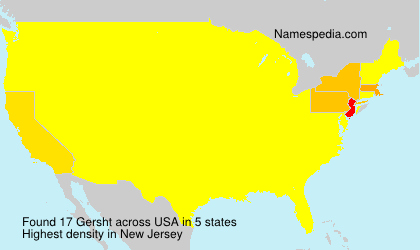 Surname Gersht in USA