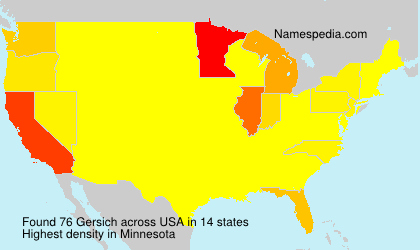 Surname Gersich in USA