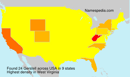 Surname Gerstell in USA