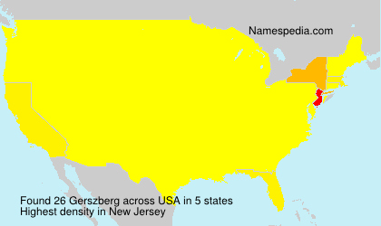 Surname Gerszberg in USA