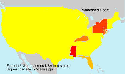 Surname Geruc in USA