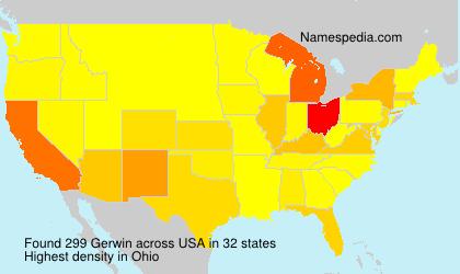 Familiennamen Gerwin - USA