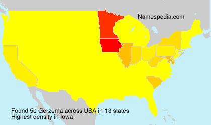 Familiennamen Gerzema - USA