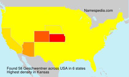 Surname Geschwentner in USA