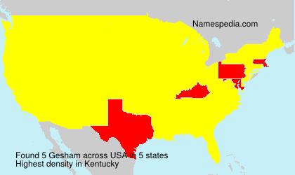 Surname Gesham in USA