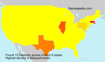 Surname Geshelin in USA