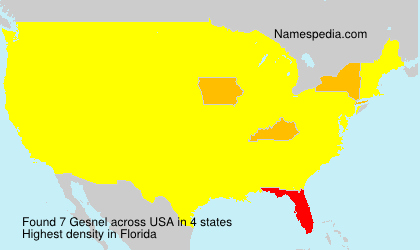 Surname Gesnel in USA