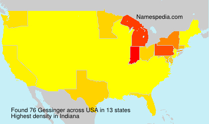 Surname Gessinger in USA