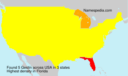Surname Gestin in USA
