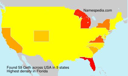 Familiennamen Geth - USA