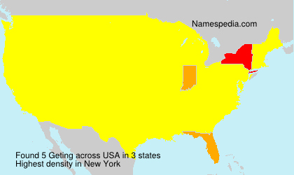 Surname Geting in USA