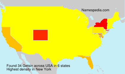 Surname Getsin in USA
