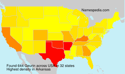 Surname Geurin in USA