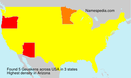 Familiennamen Geuskens - USA