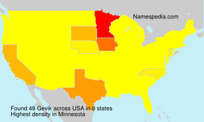 Surname Gevik in USA