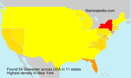 Surname Gewanter in USA