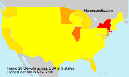 Surname Gewolb in USA